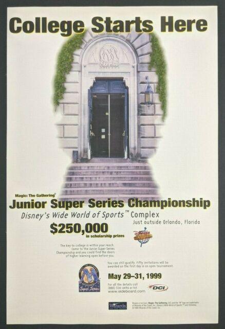 Magic the Gathering Junior Super Series Print Ad Game ...