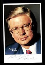 Roland Koch Autogrammkarte CDU Ministerpräsident Hessen Original Signiert  +6714