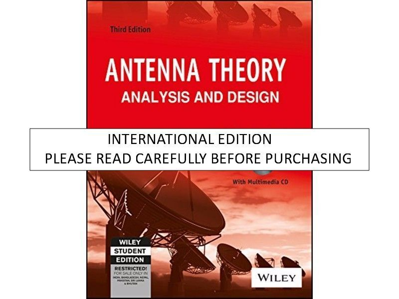 Antenna theory analysis and design by constantine a balanis 2005 resntentobalflowflowcomponentncel fandeluxe Image collections