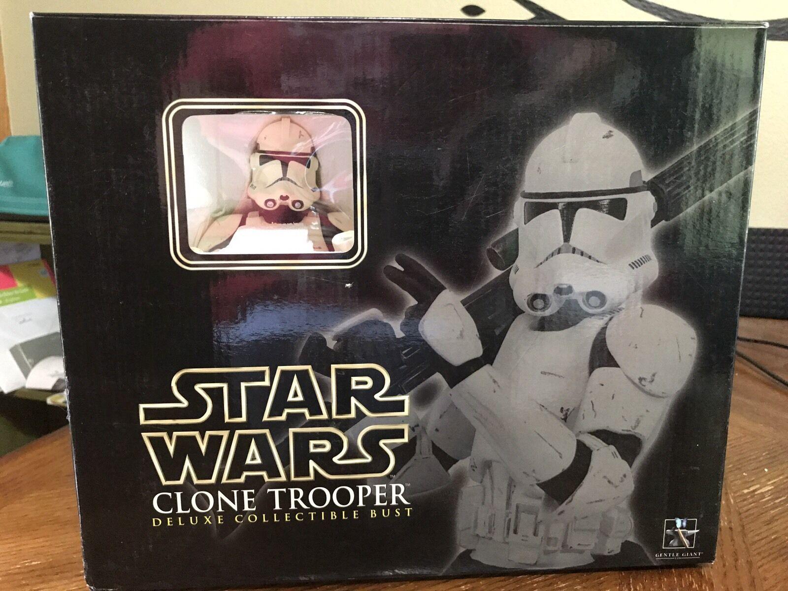 Gentle GIANT Star Wars Clone Trooper Deluxe Coleccionable Busto 08521 15000