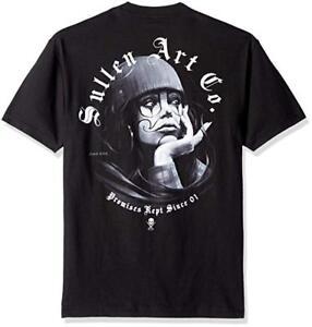 Sullen Men/'s Pelavacas Clown Short Sleeve T Shirt Indigo Blue Skull Tattooed ...