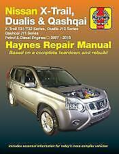 Nissan X-Trail Dualis /& Qashqai 2007-2018 Haynes Workshop Manual Service Repair