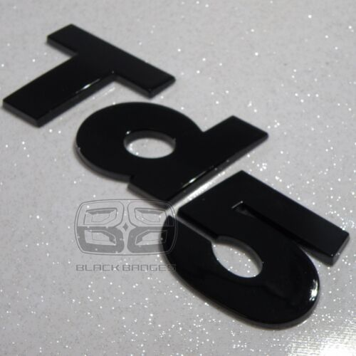 LAND ROVER DISCOVERY 2 DEFENDER COUNTY 90 110 GLOSS BLACK 3D TD5 WING BACK BADGE
