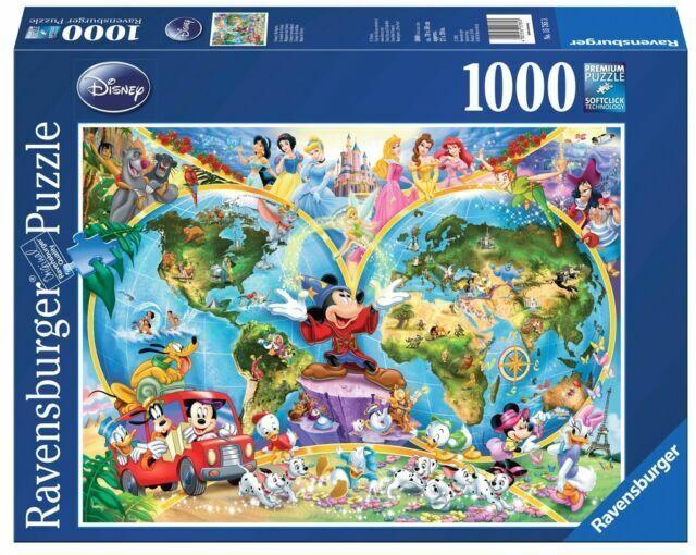 Ravensburger Disney World Map 1000pc