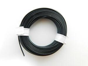10-m-Litze-Kabel-SCHWARZ-z-B-fuer-Maerklin-Spur-H0-Modellbahn-oder-N-TT-etc