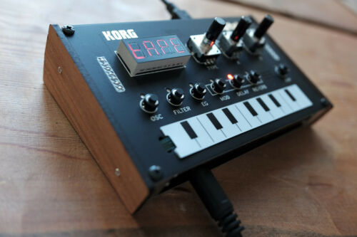 Cherry wood side panels for the Korg NTS-1 digital synthesizer