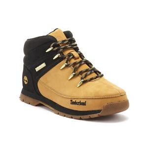 pronunciación Semejanza instructor  Timberland Euro Sprint Hiker Junior Yellow / Black Boots | eBay
