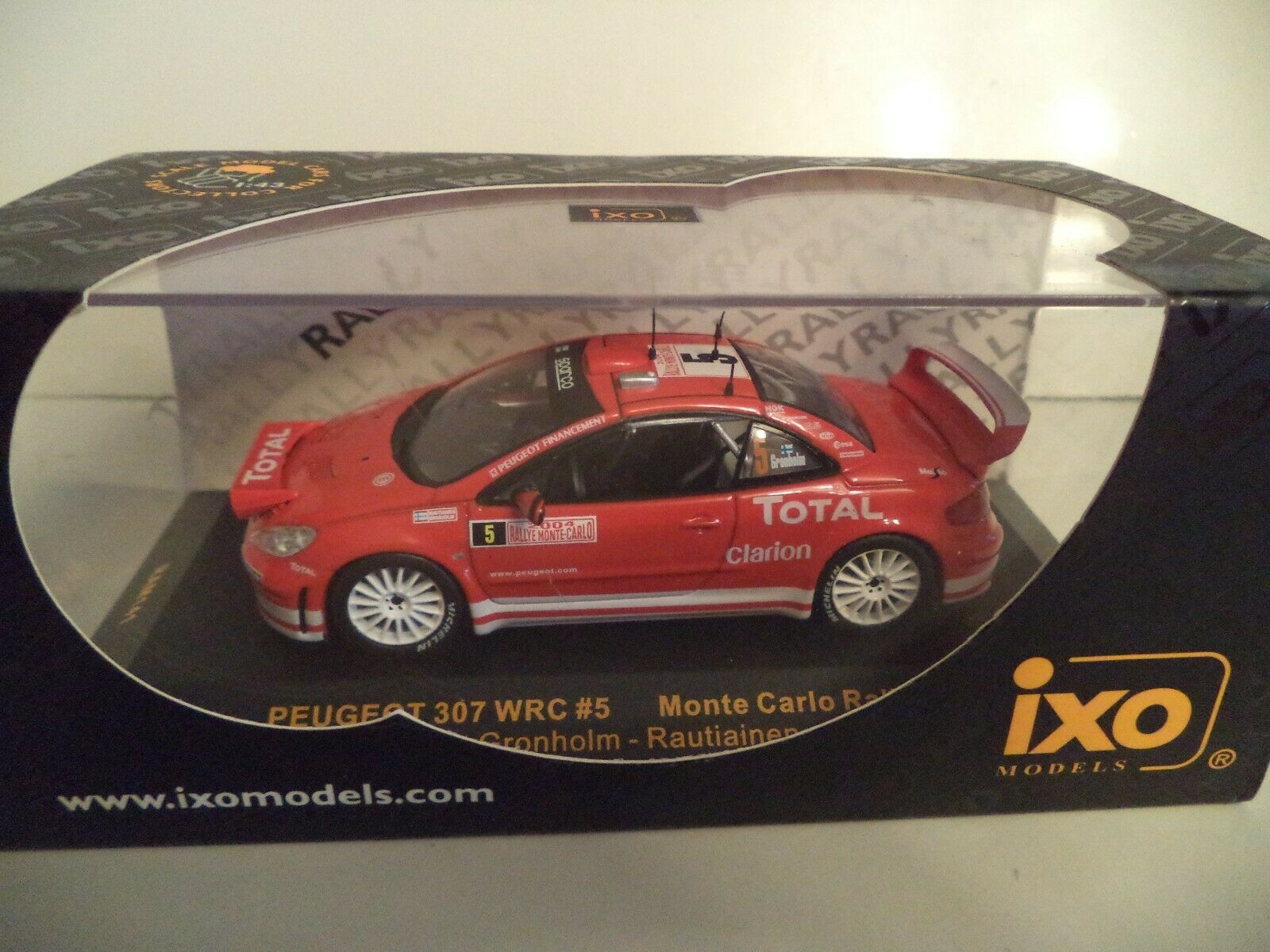 1:43 RAM 141 peugeot 307 wrc grönholm Rally de Monte 2004
