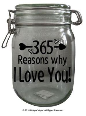Jar reasons you why love i 365 Why