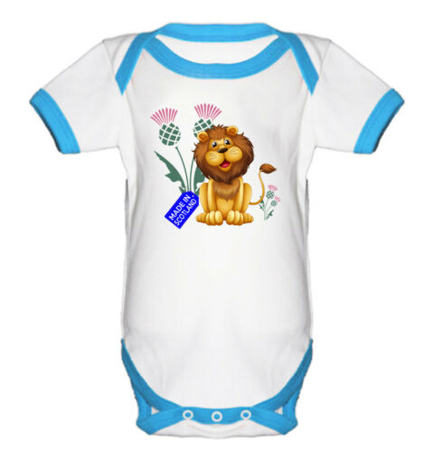 Baby Gift Short Sleeve onepiece MADE IN SCOTLAND lion Cute Baby Grow Vest