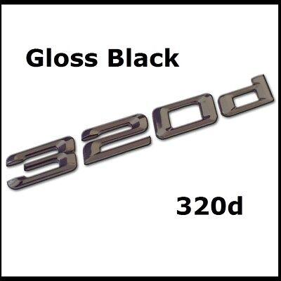 New Gloss Black Brabus Badge Emblem Rear Boot Trunk Tailgate Lettering Car 31b