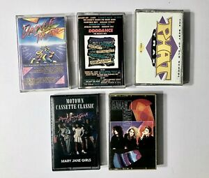 80-039-s-amp-90-039-s-DANCE-ELECTRONIC-POP-5-cassette-tapes-FREE-SHIPPING