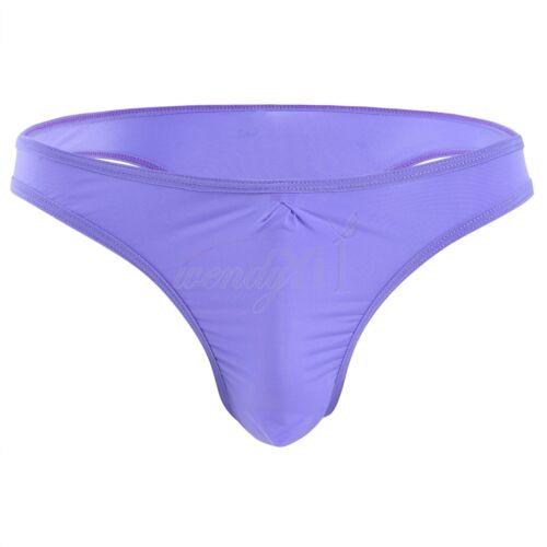 Men/'s Lingerie Ruched Bikini Brief Underwear Underpants Thongs Bulge Pouch Tanga