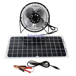 10w Solar Panel Running 6 Mini Fan Ventilator For Green