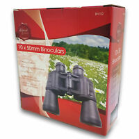 NEW BOXED 10 x 50 BINOCULARS HIGH MAGNIFICATION POWER & CASE+NECK STRAP 10x50
