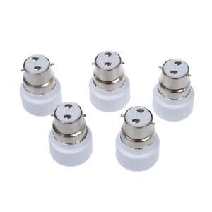 B22-a-GU10-Lampe-Ampoule-Base-Douille-Convertisseur-Adaptateur-5-paquet-A6F6