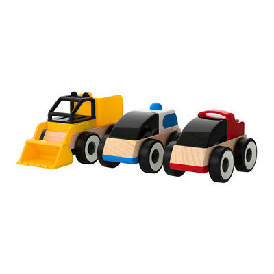 Ikea Lillabo Toy Cars Pack Of 3 Wooden Toys 401 714 72 Ebay