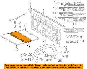 s l300 toyota oem 16 18 tacoma pick up box bed tonneau cover 6490209010 ebay