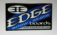 "EDGE SNOW SKATE BOARDS BLACK BLUE WHITE MUSIC SMALL 2.5"" x 4 1/4"" STICKER"