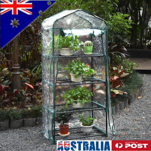 Excellent Au 4 Tiers Greenhouse Tunnel Plant Stand Garden Grow Sheds Download Free Architecture Designs Jebrpmadebymaigaardcom