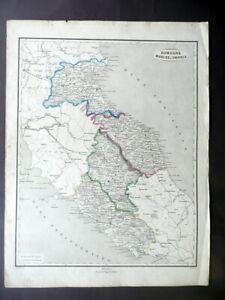 Cartina Stradale Umbria Toscana.Carta Geografica Romagna Marche Umbria Pagnoni Milano Italia Preunitaria Ebay