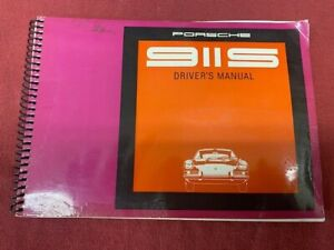 Porsche 911 S owners manual