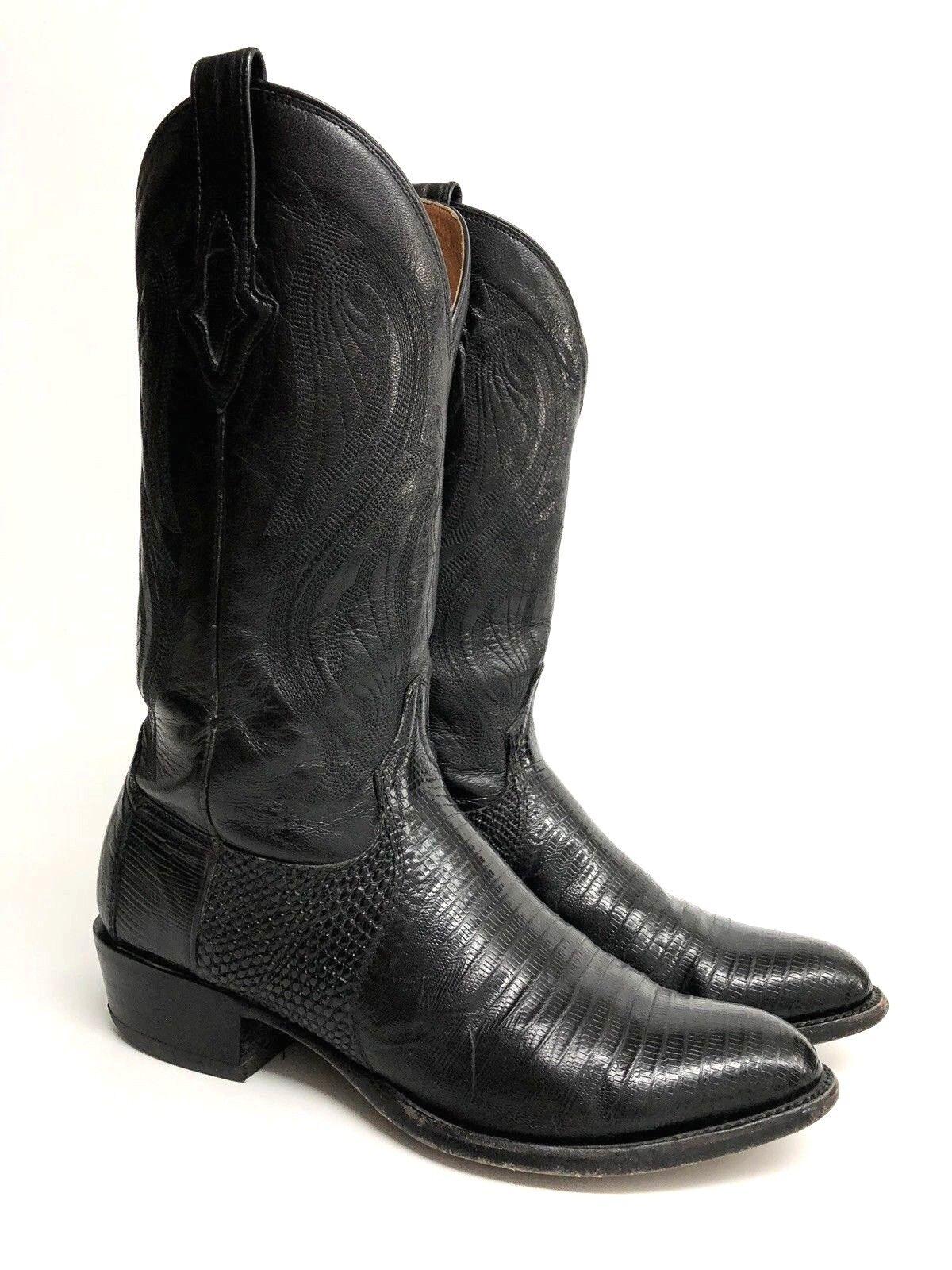 Resistol para hombres D Lagarto Negro y occidental de cuero botas de Vaquero M3021R