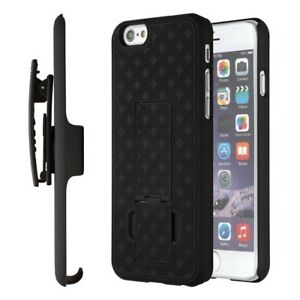 Black-Shell-Hard-Case-Cover-Belt-Clip-Holster-for-Apple-iPhone-8-Plus-7-Plus