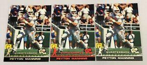 Lot-of-3-1998-Press-Pass-Base-amp-Paydirt-Red-Peyton-Manning-CL-50