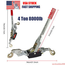 4 Ton 8000lbs Hook Come A Long Ratcheting Winch Hoist Hand Cable Puller Tool New