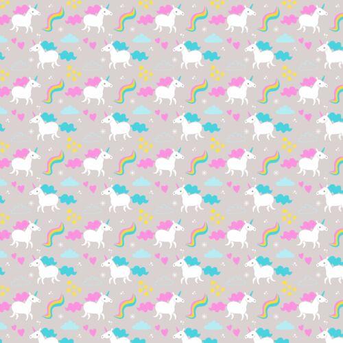 Imprimé Nœud Tissu A4 de toile licornes /& Rainbows U11 faire paillettes Bows