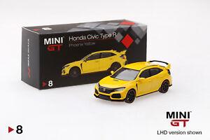 Mini-GT-1-64-2017-Honda-Civic-Type-R-FK8-Phoenix-Yellow-Diecast-Car-MGT00008