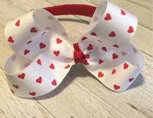 Red-Hearts-Boutique-Hair-Bow-on-Woven-Headband