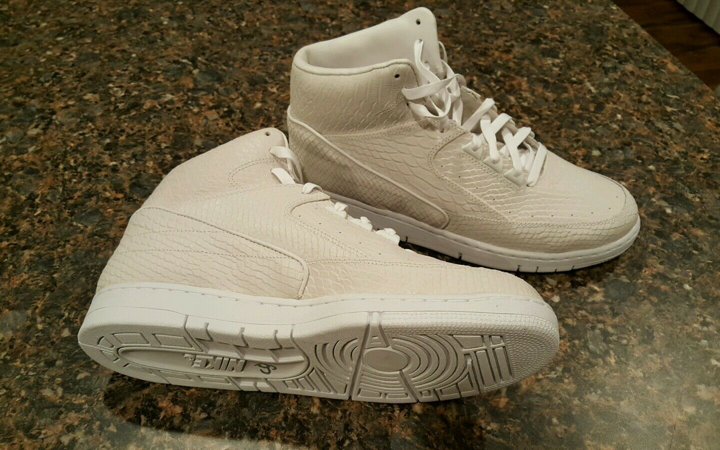 Size 12.5 Mens Nike Air Python White white..Awesome..