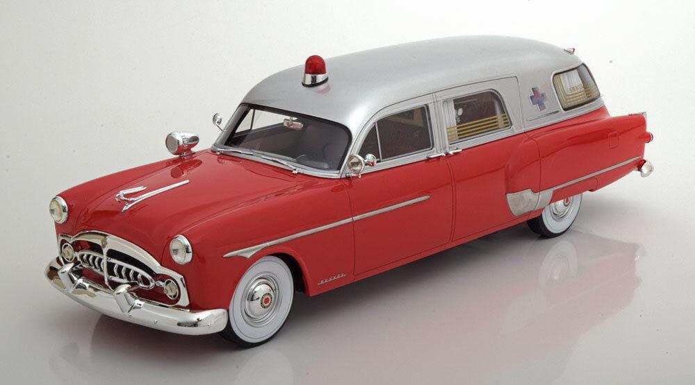 1952 Packard Henney ambulancia rosso argento por Bos Modelos le de 504 1 18  nuevo