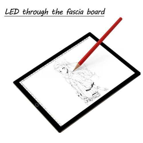 A4 LED Ultra Bright Art Craft Drawing Copy Tracing Pad Stepless Dimmable Board