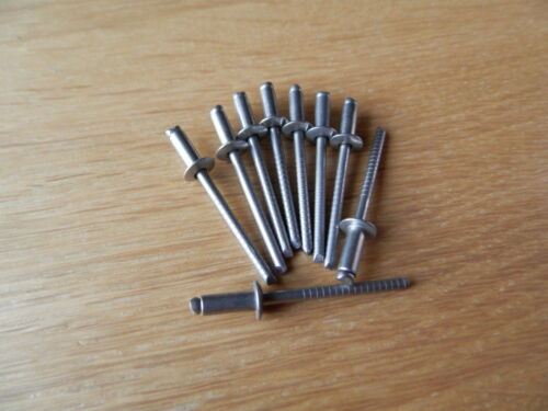 50 Stück Blindnieten 3,0x12 Popniete 3,0 x 12 Edelstahl A2//A2 Rivets