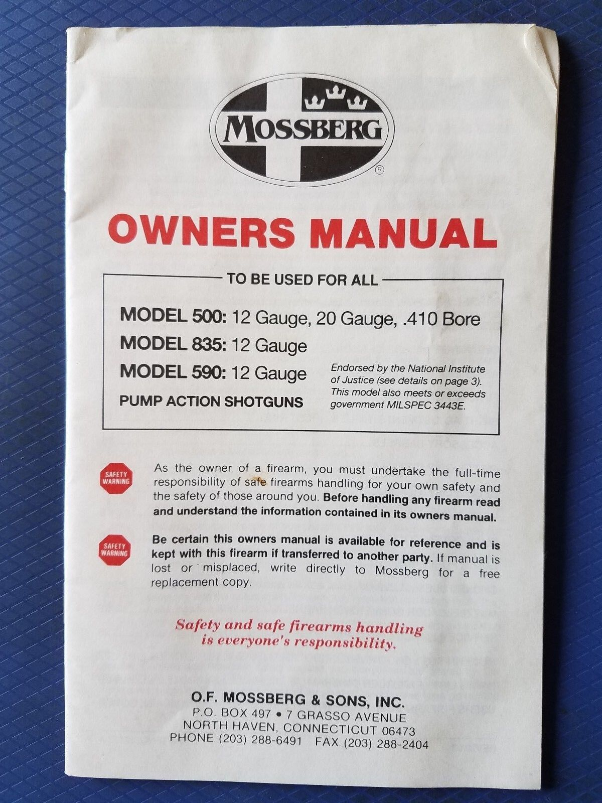 Mossberg 500 835 590 Pump Shotgun Owners Manual Guide Ebay Action Diagram