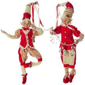 image is loading christmas elf 16 inches set of 2 raz - Raz Christmas Decorations