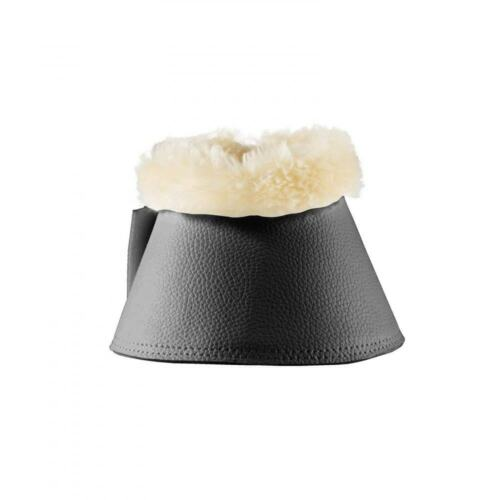 Horze Signature Faux-Fur Fleece Lined Bell Boots with Double Closure