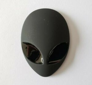 Matte-Black-Alien-Face-Chrome-Decor-Sticker-Emblem-Interior-Exterior-Most-Cars