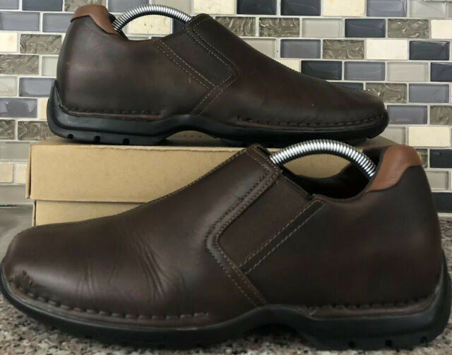Cole Haan Men 8.5 M Zeno Split Toe Driving Loafers Shoes Brown Leather C07486