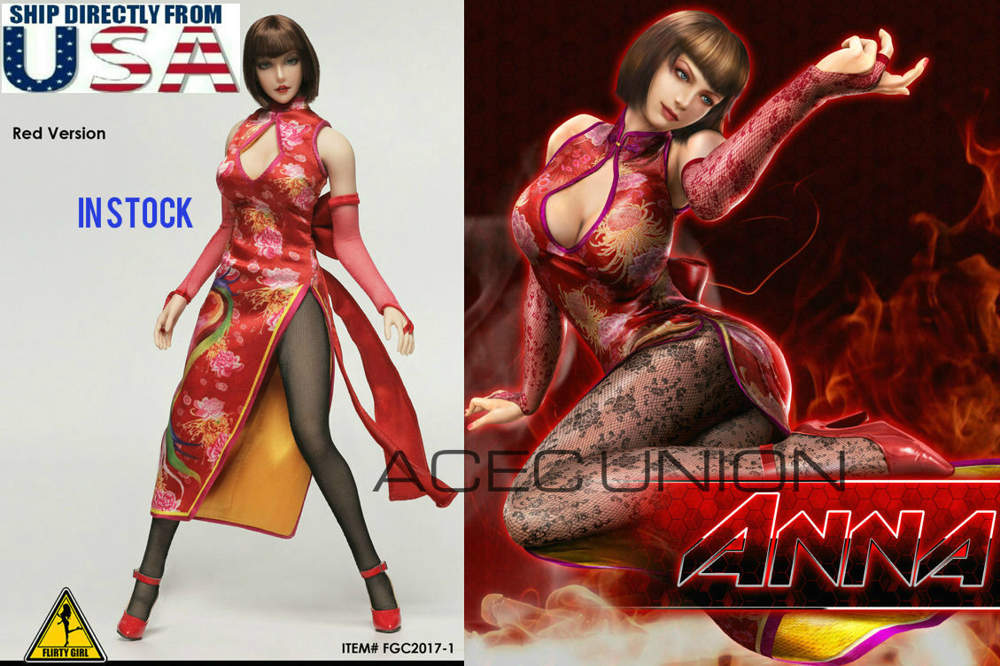 1 6 Tekken ANNA WILLIAMS Head Sculpt Clothing PHICEN Seamless Figure Full Set