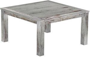 Esstisch-Holz-Pinie-massiv-140-x-140-Eiche-antik-weiss-shabby-kolonial-Tische