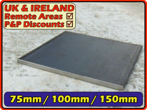 mounting,foundation,base,fixing,cap Mild Steel Square Plate 75mm 100mm 150mm