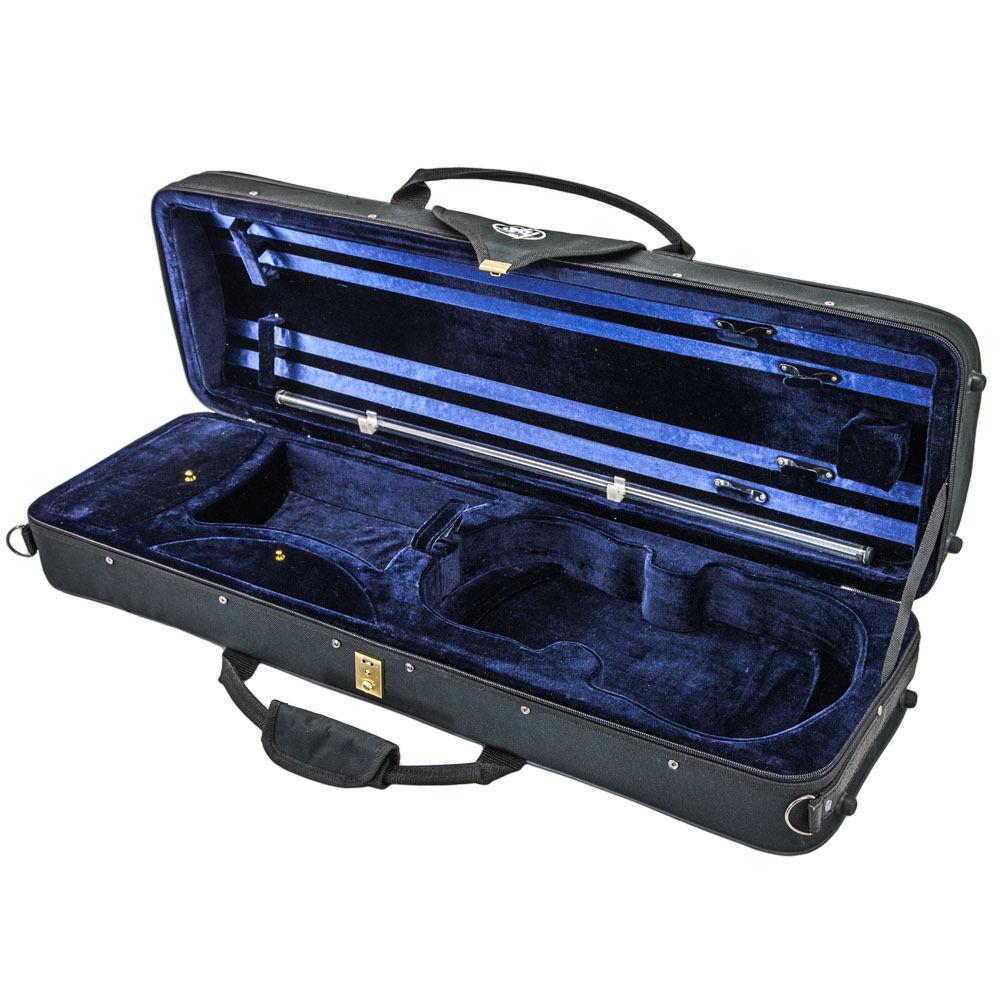 Deluxe Oblong 4 4 Violin Case (Blau)+Extras