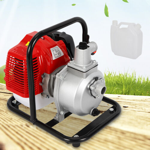 1 inch 2-Stroke Portable Petrol High Flow Water Transfer Pump Irrigation 1.7HP !