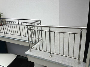balkon gel nder edelstahl gel nder senkrechte sprossen ebay. Black Bedroom Furniture Sets. Home Design Ideas