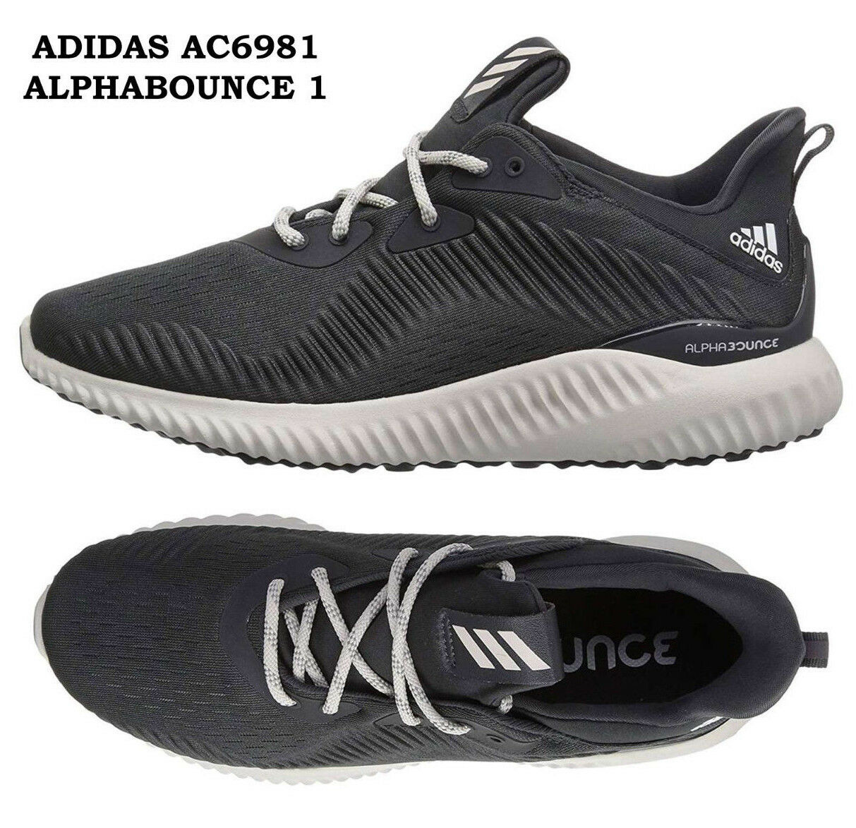 Womens ADIDAS ALPHABOUNCE 1 Womens Running shoes Carbon Sneakers AC6981 NEW