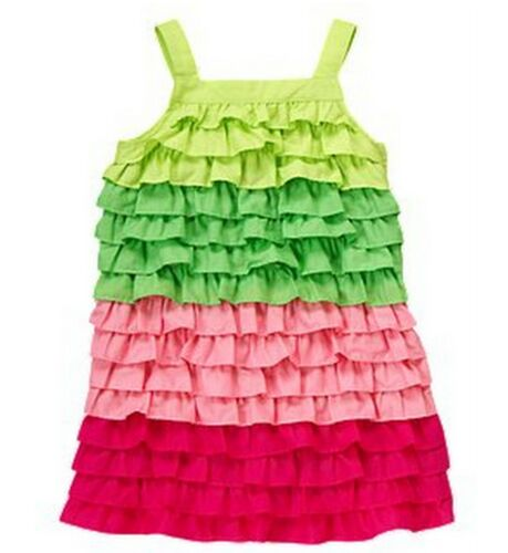 NWT Gymboree Floral Mermaid Collection Colorblock Ruffle Rumba Dress ~ Sz 8 /& 12
